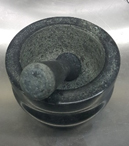 Large granite mortar and pestle